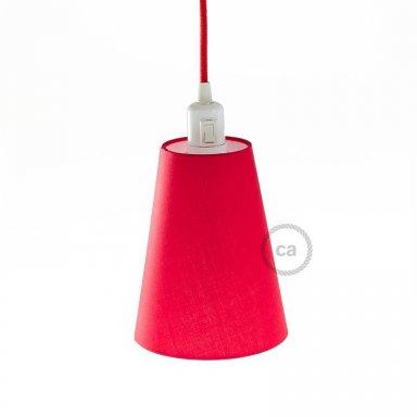 Stof Lampenkap Cylinder 20cm Wit P En Carreau Line